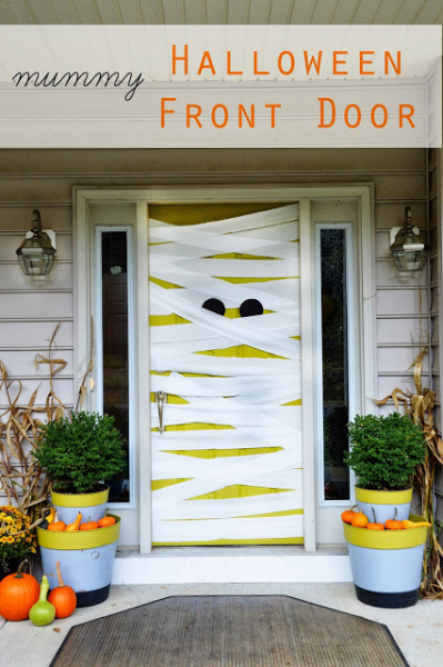 The Cleaner Home Diy Halloween Decorations Mummy Front Door