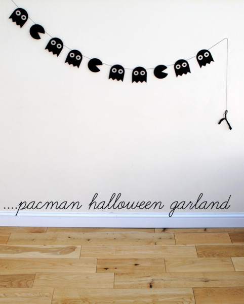 The Cleaner Home Diy Halloween Decorations Pacman Halloween Garland