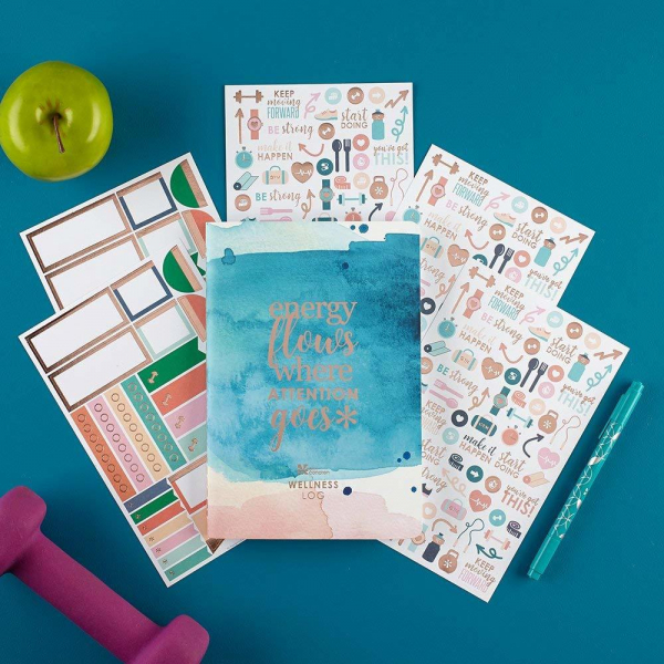 Microban The Cleaner Home Erin Condren Wellness Log Bundle With Stickers Holiday Office Gift Guide Gifts For Coworkers