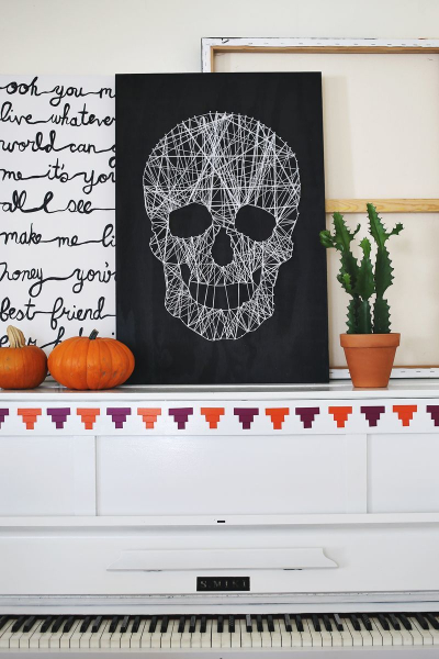 The Cleaner Home Diy Halloween Decorations Skull String Wall Art