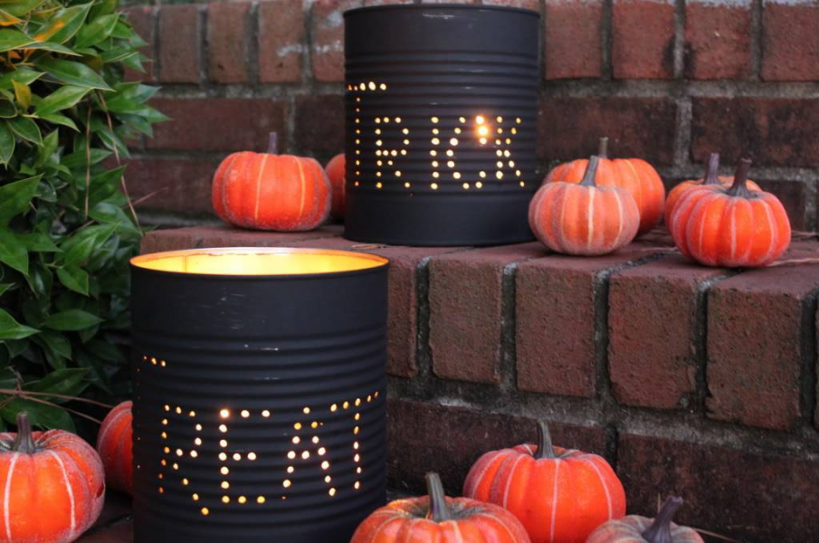 The Cleaner Home Diy Halloween Decorations Tin Can Luminaries